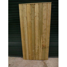 Barrel Board Gate - Straight Top 6ft high x up to 3ft wide