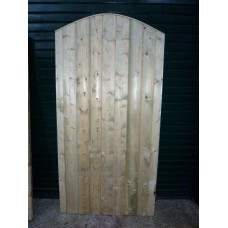 Barrel Board Gate - Convexed Top 6ft high x up to 3ft wide