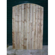 Closeboard Gate- Convexed Top 6ft high x up to 3ft wide