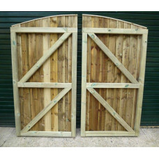 Driveway Gates - Closeboard (Convex) Up to 6ft Wide