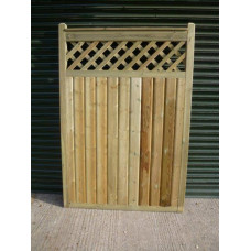Rebated Barrel Board Gates - Spindle/Trellis Detail 6ft high x up to 3ft wide