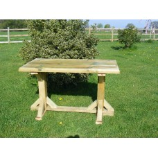 Standard Height GARDEN TABLE (6ft long x 2ft 8ins wide) *Delivered fully assembled*