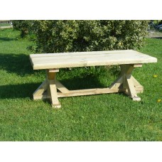 GARDEN TABLE (6ft long x 2ft 8ins wide) *Delivered fully assembled*
