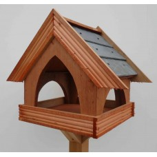 SLATE COUNTRY COTTAGE Bird table, Standard size (with stand)